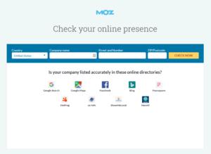 moz local online reputation checker